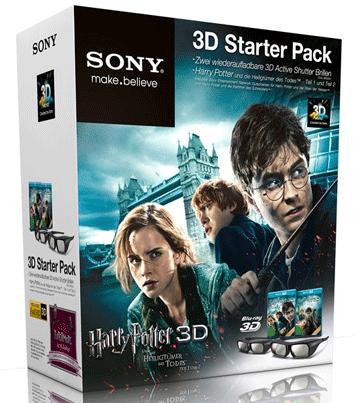 Harry Potter 3D Starter Pack mit 2 Sony Shutter Brillen für 56 Euro statt 137 Euro