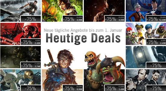 Steam Weihnachtsaktion - 75% Rabatt auf viele Spiele