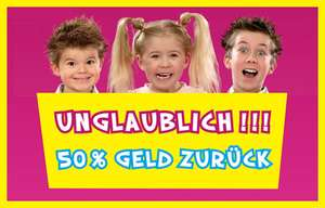 50% Cashback auf MB und Playskool Kinderspiele