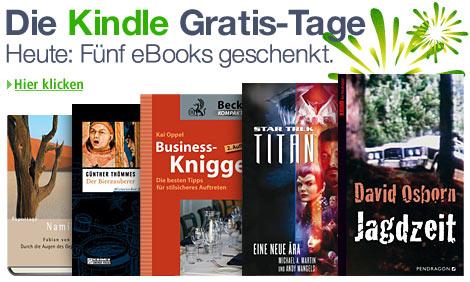Kindle Gratis Tage von 25.12.2011 - 06.01.2012: Jeden Tag ein eBook geschenkt