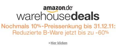 10% Zusatzrabatt auf Amazon Warehousedeals