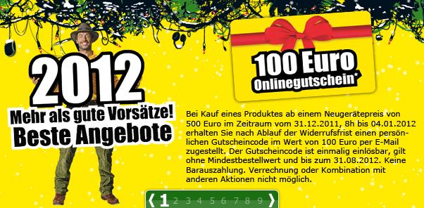 100 Euro Promarkt Gutschein beim Kauf eines Produktes ab 500 Euro geschenkt