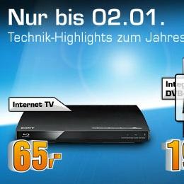Heute: Sony BDP-S185 für 65€ statt 73€ bei Saturn