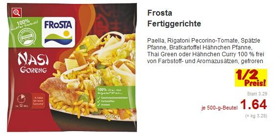 Frosta Fertiggerichte zum halben Preis bei Kaufland (bis 07.01.2012)