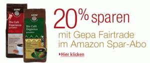 20% auf GEPA Fairtrade Produkte durch Amazon Sparabo