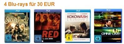 4 Blu-Rays für 30 EUR bei Amazon - mehr Auswahl durch Konter der Müller-Aktion