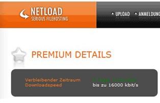 Netload.in Premium Account gratis (für 5 Tage)
