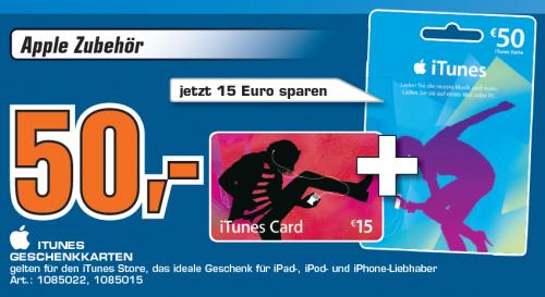 50€ iTunes Karte + 15€ geschenkt bei Saturn Österreich