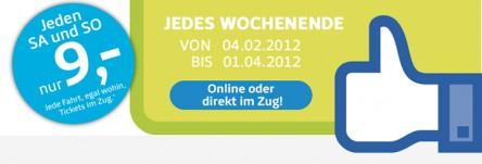Weekend Special von Westbahn - jede Strecke für 9 Euro fahren
