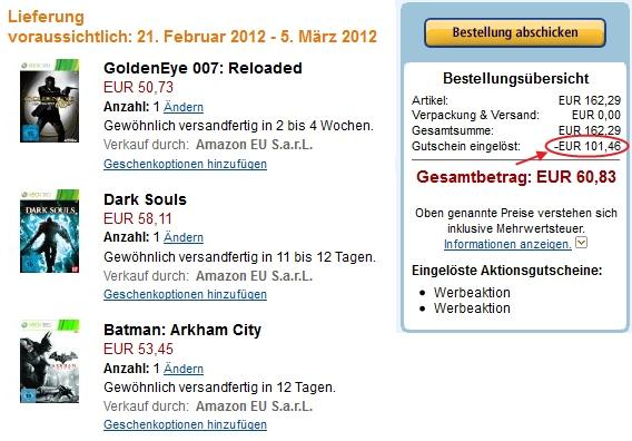 Amazon Preisfehler bei der 3 für 2 Games-Aktion (über 100€ Rabatt auf 3 Games) *Abgelaufen*