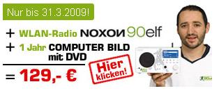 Internetradio Noxon 90elf + 1 Jahr Computer Bild für 129€