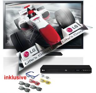 Heute 15% Rabatt auf Technik bei Neckermann - z. B. LG 42LW4500 + Blu-ray-Player + 3D-Brillen für nur 641 € !