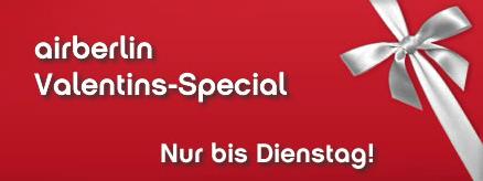 Valentins-Special bei Airberlin und Flyniki - Städtetrips oder Strandurlaub ab 49 €