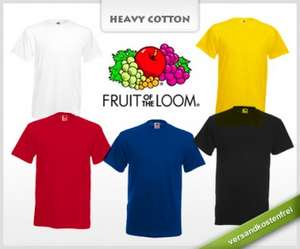 12 T-Shirts von Fruit of the Loom für 22,22 €
