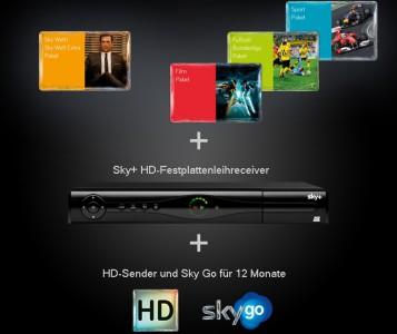 Top: Sky-Komplettpaket mit HD-Festplattenreceiver und Sky Go für 33,90 € monatlich *Update*