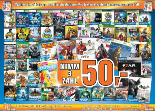 Wieder da: 3 Spiele für 50 Euro bei Saturn Österreich!