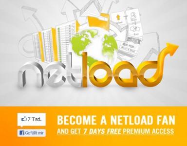 Netload.in Premium-Account 7 Tage gratis für Facebook-Fans