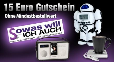 15 €-Gutschein für sowaswillichauch.de ohne Mindestbestellwert