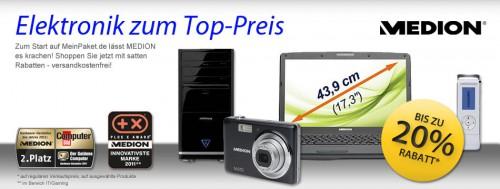 20% Rabatt auf Medion-Produkte bei MeinPaket - z.B. Medion Erazer X6815 für 656 €