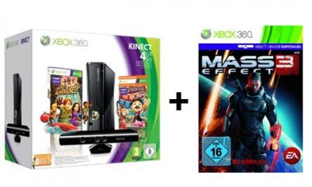Kinect-Bundles bei Amazon - z.B. Xbox 360 4 GB + Mass Effect 3 mit 11% Rabatt *Update*