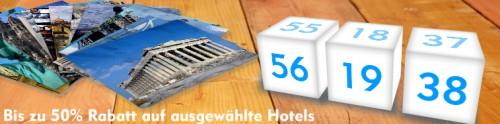 72-Stunden-Sale bei Expedia & hotels.com - bis zu 50% Rabatt auf Übernachtungen