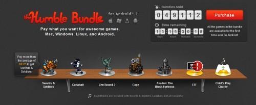 The Humble Bundle for Android 2 – 4 Indie Games zum selbstgewählten Preis kaufen