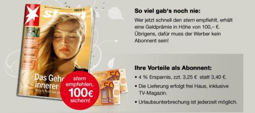 Stern-Jahresabo für effektiv 74,20 € - mit BestChoice-Gutschein *Update* jetzt mit Barprämie