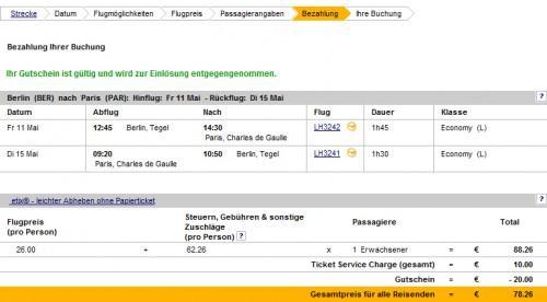 Europaflüge mit Lufthansa für 79 Euro mit Gutscheincode