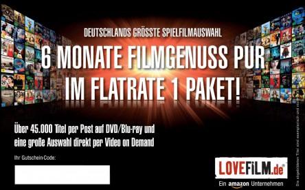 6 Monate Lovefilm Flatrate 1 Paket für 18,99 € *Update* wieder erhältlich