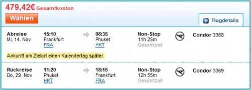 Hin- und Rückflug: Frankfurt - Phuket ab 479 €