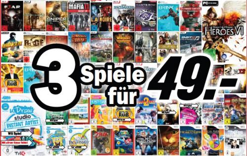 3 Spiele für 49 Euro bei Media Markt Deutschland *Update* Jetzt auch bei Amazon!