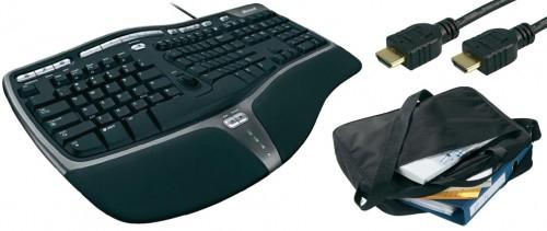 Microsoft Natural Ergonomic Keyboard 4000 + 2 Gratisartikel für 33,06 €
