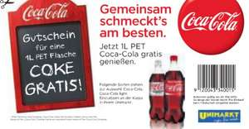 Gratis Coca Cola (1 Liter) bei Unimarkt bis 20.05.2012 (statt 1,25€)!