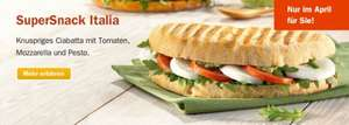 SuperSnack Italia gratis in jedem Aral PetitBistro (für Facebook-Nutzer)