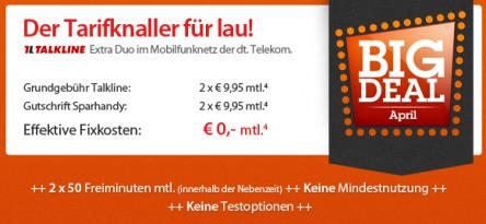 Big Deal von Sparhandy - kostenlose Handyverträge mit Smartphones ab 1 €