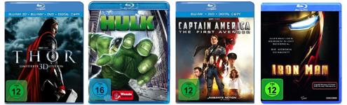 DVD- und Blu-ray-Aktion von Saturn und Konter von Amazon - Marvel-Verfilmungen ab 5 €