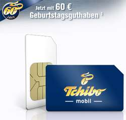 60€ Tchibo Prepaid SIM-Karte für 10€