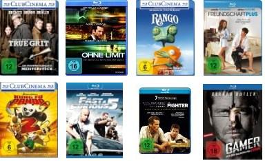 Sehr gute Auswahl: 4 Blu-Rays bei Amazon für 30 Euro