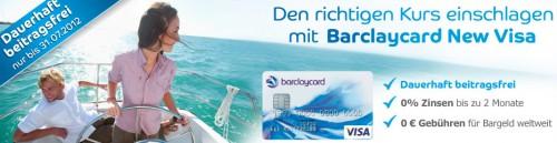 Kostenlose Kreditkarte: Barclaycard New Visa dauerhaft beitragsfrei *Update* jetzt mit 20 € Guthaben