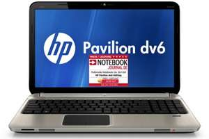 Entertainment-Notebook HP Pavilion dv6-6b55sg für 649 € statt 777 € *Update*