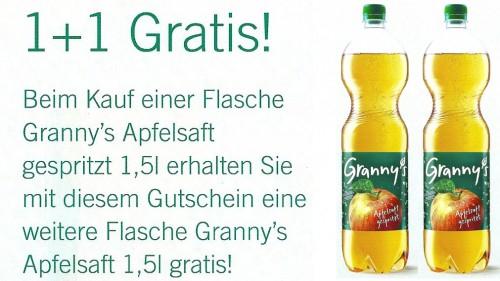 Granny's Apfelsaft: 2 zum Preis von 1 bei Billa, Merkur und Sutterlüty