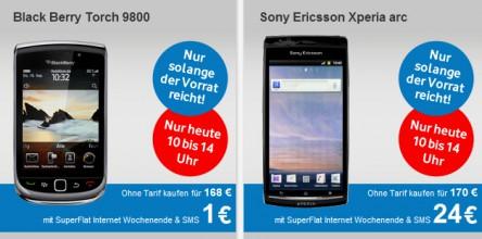 BlackBerry Torch 9800 für 168 € *Update* jetzt als B-Ware ab 173 €