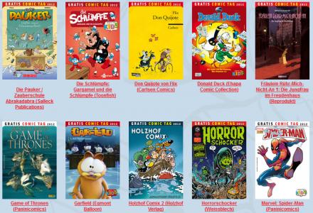 Gratis-Comic Tag 2012 – Comics auch online bestellen, mit gratis Versand