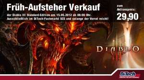 Diablo 3 für 29,90 € bei DiTech in der SCS - nur am 15.05