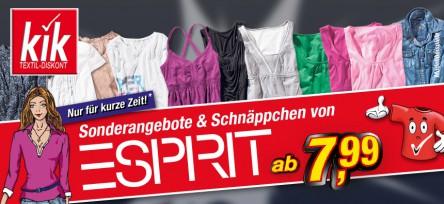 Esprit-Mode bei KiK kaufen & vollen Kaufpreis und 10 € Gutschein von Esprit erhalten