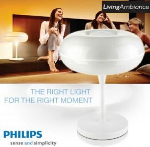 Philips White LivingAmbiance Tischlampe für 159 € - 61% Ersparnis