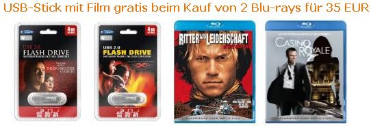 2 Blu-rays + 4GB USB-Stick für 35€ bei Amazon