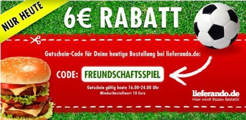 6 € Lieferando-Gutschein gratis – nur heute von 16 bis 24 Uhr *Update* jetzt für Österreich