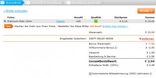 100 Fotoabzüge für 0 € + 2,94 € Versand - für Pixum-Neukunden