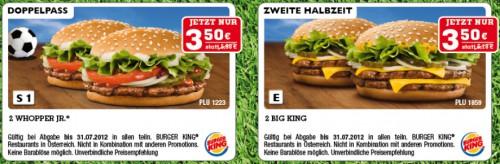 Gutscheinheft für Burger King Österreich - bis zu 54% sparen